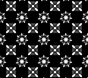 Black Floral Arabesque Design
