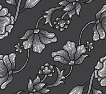 Black Floral Chain