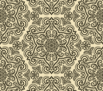 Black and Beige Vintage Pattern