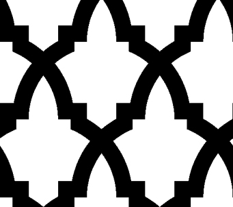 Black and White ArabStyle Pattern