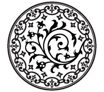 Black and White ArtDeco Symbol
