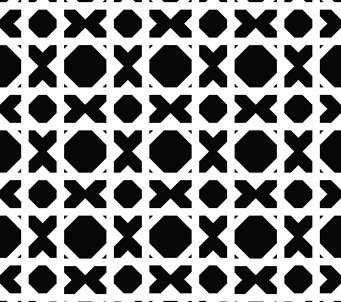 Black and White Noughts and Crosses Pattern