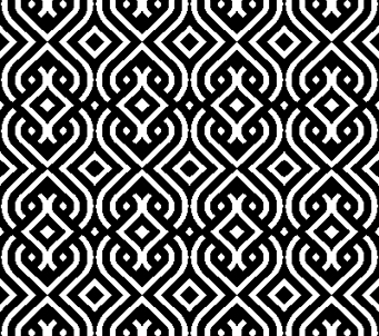 Black and White Vintage Geometric Pattern