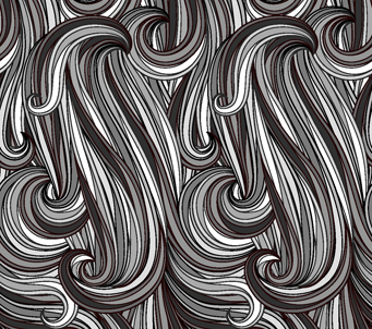 Black and Grey Retro Swirl