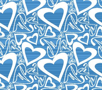 Blue Love Heart Pattern