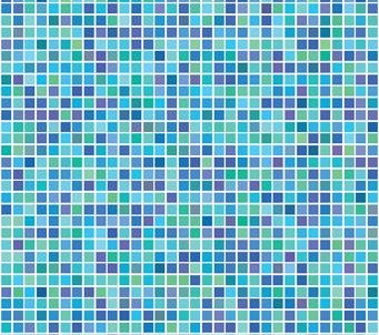 Blue Mozaic 1