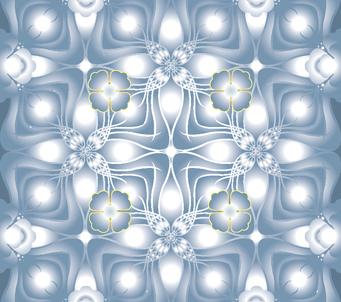 Blue Pastel Floral