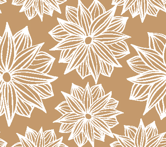 Brown flower Doodle Wallpaper