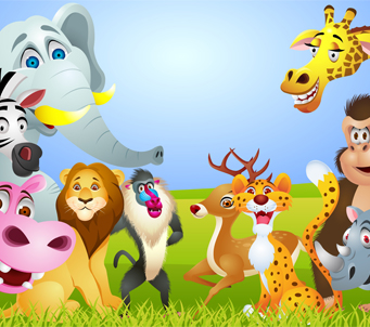 Cartoon Jungle Animals