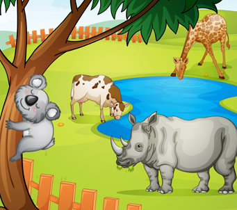 Cartoon Jungle Animals2