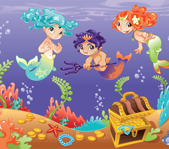 Cartoon Mermaids