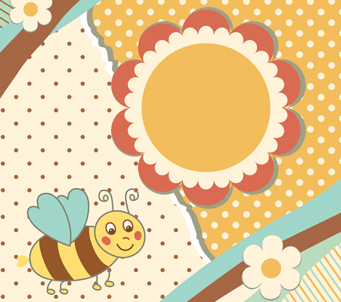Cartoon Vintage Bumble Bee