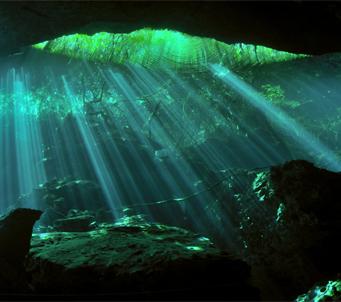 Cave underwater