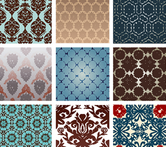Choice of 9 Retro Patterns