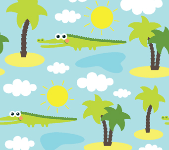 Crocodiles Kids Pattern