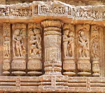 Erotic Sculptures at Sun Temple Konark