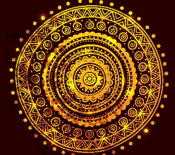 Ethnic Gold Ornament