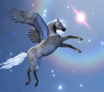 Fantasy Flying Pegasus