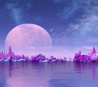 Fantasy Moonlit Landscape
