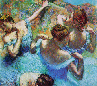 Fine Art Blue Dancers