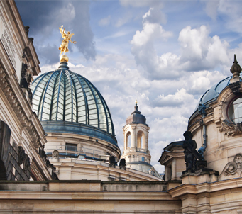 Fine Art Cupolas on Academy of Fine Arts Frauenkirche Dresden
