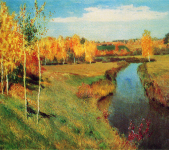 Fine Art Isaac Levitan Golden Autumn