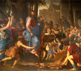 Fine Art Jesus entry into Jerusalem