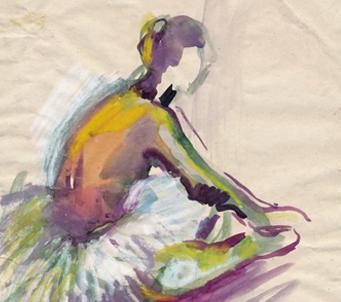 Fine Art Sitting Ballerina