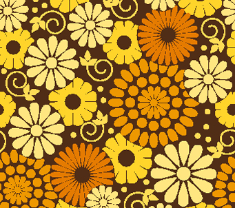 Floral Pattern Brown