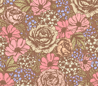 Floral Pattern Dusky Rose