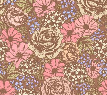 Floral Pattern Dusky Rose