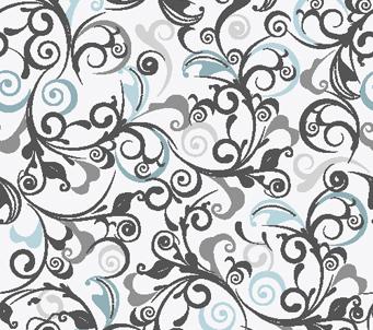Floral Pattern Grey Vintage