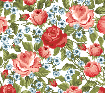 Floral Pattern Pink Roses