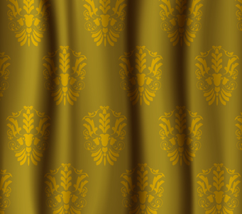 Gold Damask Glamour Curtain