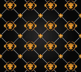 Gold and Black Wall Paper