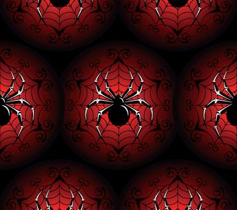 Gothic Halloween Spiders