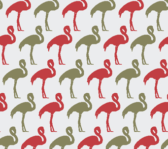 Gray and Red Flamingos