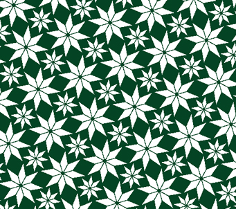 Green and White Star Pattern