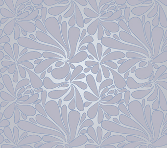 Grey Faded Floral Pattern
