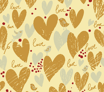 Hearts and Love Pattern