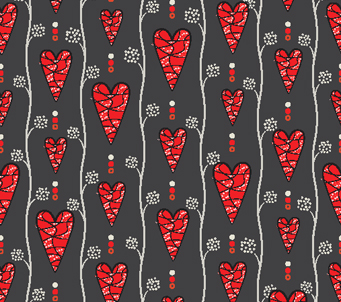 Hearts and Stripes Pattern