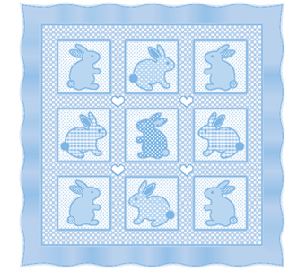 Kids Boys Patchwork Bunnies