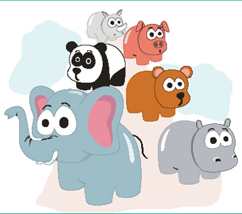 Kids Cartoon Baby Animals