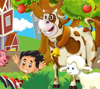 Kids Cartoon Farmyard