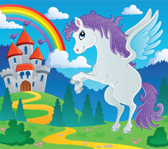 Kids Cartoon Pegasus