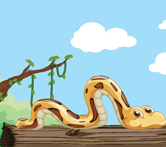 Kids Cartoon Snake