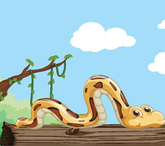 Kids Cartoon Snake