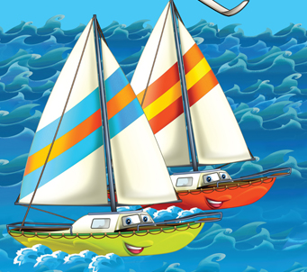 Kids Cartoon Twin Ships