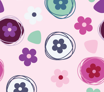 Kids Daisy Button Pattern
