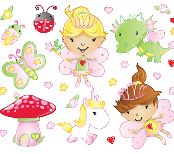 Kids Fairy with bugs